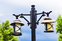 Old city lamp - stock photo