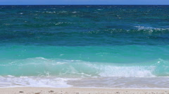 Turquoise ocean waters at the tropical beach Stock Footage