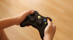 Xbox 360 Hands Close Up - stock footage