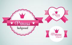 Princess Crown Frame Vector Illustration Stock Illustration