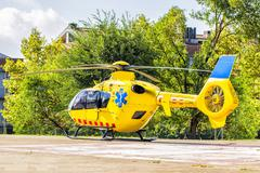 Stock Photo of Spanish rescue helicopter