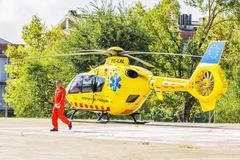 Spanish rescue helicopter Stock Photos