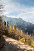 Autumn morning in the alps Stock Photos