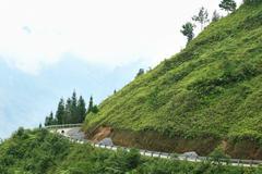 road in Vietnam - stock photo
