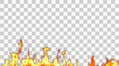 Fire Flame is Burning with Alpha Channel Stock Footage