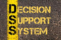 Stock Illustration of Business Acronym DSS as DECISION SUPPORT SYSTEM