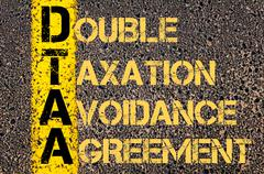 Stock Illustration of Business Acronym DTAA as DOUBLE TAXATION AVOIDANCE AGREEMENT