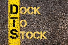 Business Acronym DTS as DOCK TO STOCK Stock Illustration