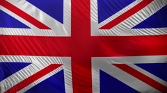 Waving flag of Great Britain. - stock footage