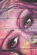 Graffiti of woman visage Stock Photos