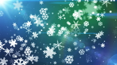 Broadcast Snow Flakes, Multi Color, Events, Loopable, HD Stock Footage