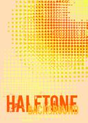 Halftone background with copy space. Stock Illustration