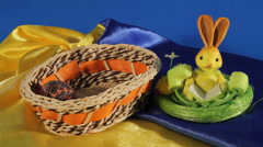 Easter Eggs appear in your basket Stock Footage