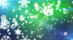 Broadcast Snow Flakes 15 - stock footage
