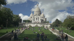 Stock Video Footage of Paris Sacre coeur Cathedral - central