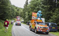 Haribo Caravan - Le Tour de France 2014 - stock photo