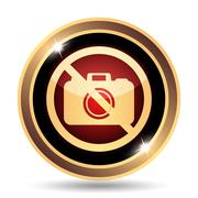 Stock Illustration of Forbidden camera icon. Internet button on white background..
