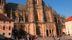 Saint Vitus Cathedral. Time Lapse 4K Stock Footage