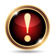 Stock Illustration of Attention icon. Internet button on white background..