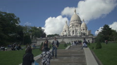 Stock Video Footage of Paris Sacre coeur Cathedral