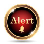 Stock Illustration of Alert icon. Internet button on white background..