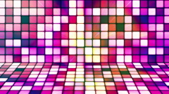 Broadcast Twinkling Hi-Tech Cubes Stage, Multi Color, Abstract, Loopable, HD Stock Footage