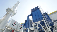 Waste-to-energy plant - stock footage