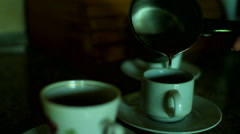 Greek coffee traditional Stock Footage