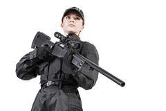 Female police officer - stock photo