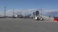 Dock 5 At Calais Ferry Terminal - France Stock Footage