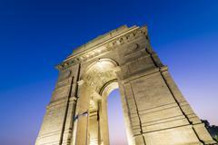New Delhi Gateway of India at Blue Hour - stock photo