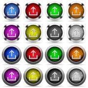 Upload button set Stock Illustration
