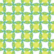 Original abstract pattern in green. Multicolor vector illustration for textile - stock illustration