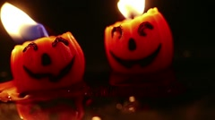 Jack O' Lantern Candles - stock footage