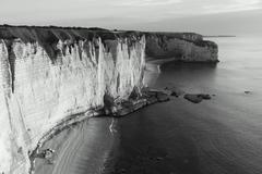 Cliffs in Etretat, Cote d'Albatre, Pays de Caux, Seine-Maritime department, U - stock photo