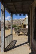 Mini Hollywood Film set, Desert of Tabernas, Almeria Province, Andalusia, Spa Stock Photos