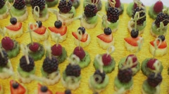 Stock Video Footage of Dessert canape