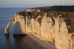 Aval cliff, Etretat, Cote d'Albatre, Pays de Caux, Seine-Maritime department, Stock Photos