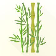 vector flat bamboo plants illustration icon. - stock illustration