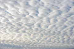 Wide angle view of cloudscape as natural background. Stock Photos