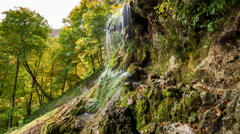 Waterfall in a forest Stock Footage