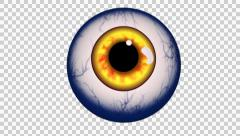 Halloween Eye Blue - stock footage