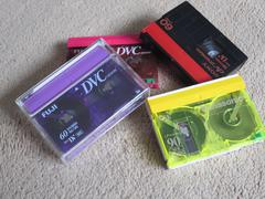 DV Mini tapes for digitale video camcorder. Stock Photos