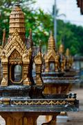 Mini Golden temple Close up in Asia - stock photo