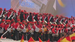 Crowded stage performance with music,Kuala Lumpur,Malaysia Stock Footage