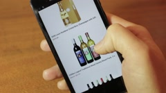 Online store. Wine shop Stock Footage