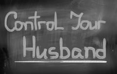 Control Your Husband Concept - stock illustration