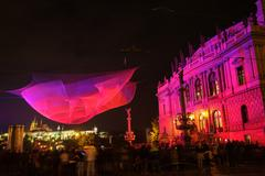 PRAGUE, CZECH REPUBLIC - OCTOBER 17: Signal Festival 2015 - stock photo