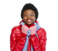 Beautiful African-american girl. - stock photo