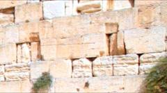Western Wall, Jerusalem, Israel Stock Footage